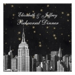 NYC ESB Skyline Etched Black Starry Rehearsal Din Custom Announcement