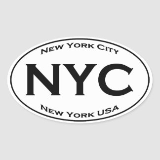 NYC Euro Style Oval Logo Oval Sticker