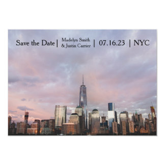 """NYC Freedom Tower Photo - Save the Date 5"""" X 7"""" Invitation Card"""