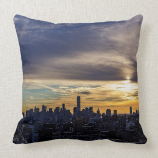 NYC Freedom Tower Sunset Throw Pillow