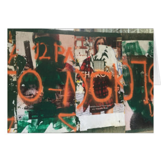 NYC Garment District Graffiti Spraypaint Urban Art Card