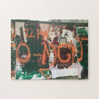 NYC Garment District Graffiti Spraypaint Urban Art Jigsaw Puzzle