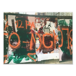 NYC Garment District Graffiti Spraypaint Urban Art Photo Print