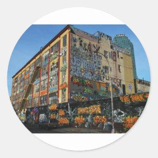 nyc graffiti sick styles round sticker
