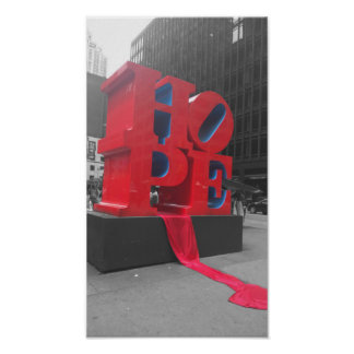 NYC Hope Statue Poster