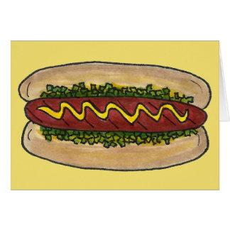 NYC Hot Dog Hotdog w/ Mustard Relish Bun Foodie Card