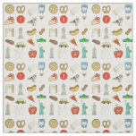 NYC Icons New York City Landmark Food Taxi Fabric