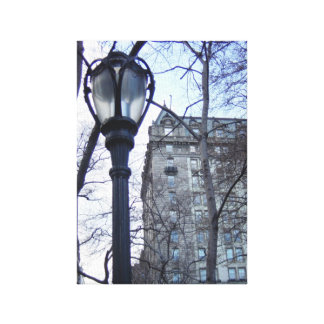 NYC Lamp Post Branches Building Canvas