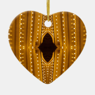 NYC Landmarks Theater Marquis Lights Broadway Ceramic Heart Ornament