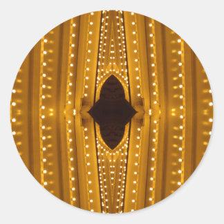 NYC Landmarks Theater Marquis Lights Broadway Classic Round Sticker