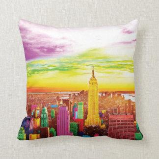 NYC landscape pillow