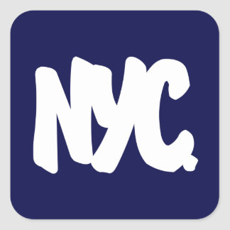 NYC Letters Square Sticker