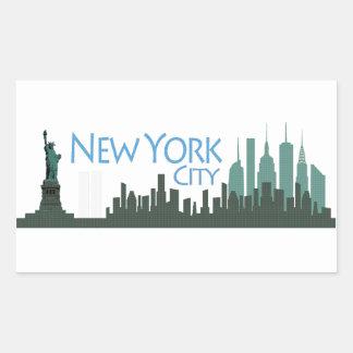 NYC Liberty Skyline Sticker