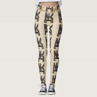 NYC LOGO LEGGINGS BEIGE  HAVIC ACD
