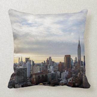 NYC Manhattan East Side Throw Pillow