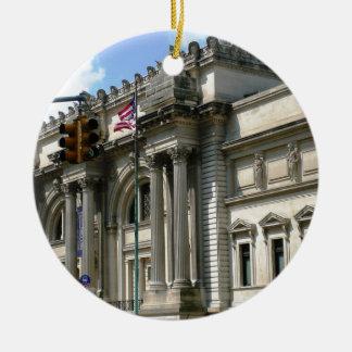 NYC Metropolitan Museum Round Ceramic Ornament