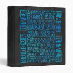 NYC Neighborhoods Blue Vinyl Binder