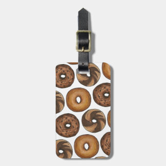 NYC New York Bagels Personalized Luggage Tag