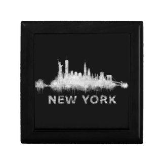 NYC New York black-White Skyline cityscape v01 Gift Box