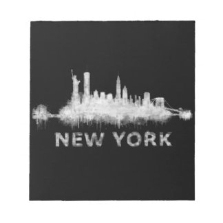 NYC New York black-White Skyline cityscape v01 Notepad