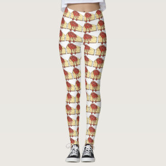 NYC New York Cherry Cheesecake Cheese Cake Foodie Leggings