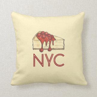 NYC New York Cherry Cheesecake Slice Pillow