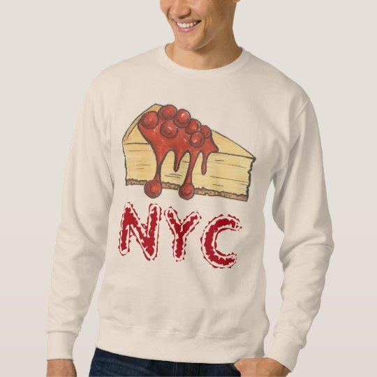 NYC New York Cherry Cheesecake Slice Sweatshirt