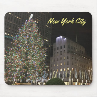 NYC New York Christmas Tree Rockefeller Center Mouse Pad