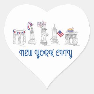 NYC New York City 4th of July Patriotic Sticker