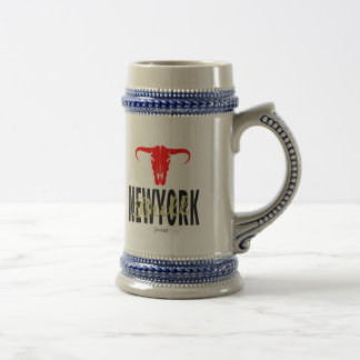NYC New York City Bull by VIMAGO Beer Stein