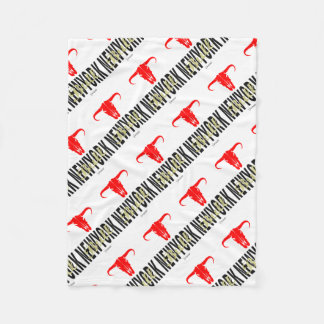 NYC New York City Bull by VIMAGO Fleece Blanket