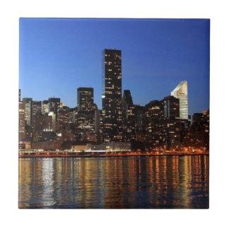 NYC New York City Manhattan Night Ceramic Tiles
