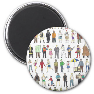 NYC New York City People New Yorkers Button Magnet
