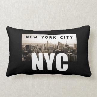 NYC New York City Skyline Photo Architecture Lumbar Pillow
