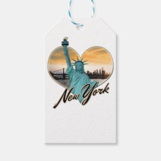 NYC New York City Skyline Souvenir Lady Liberty Gift Tags