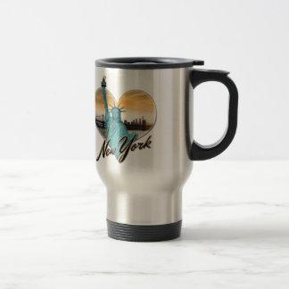NYC New York City Skyline Souvenir Lady Liberty Travel Mug