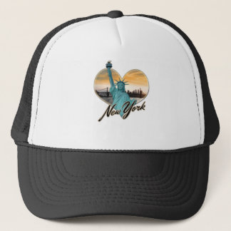 NYC New York City Skyline Souvenir Lady Liberty Trucker Hat