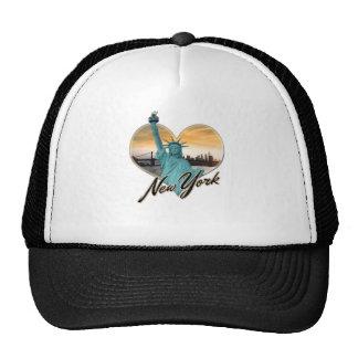 NYC New York City Skyline Souvenir Lady Liberty Trucker Hat