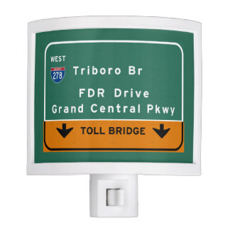 NYC New York City Triboro Br FDR Drive Interstate Night Lite