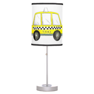 NYC New York City Yellow Taxi Cab Car Decor Table Lamp