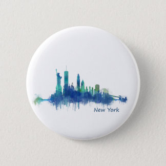 NYC New York Skyline v5 2 Inch Round Button