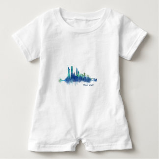 NYC New York Skyline v5 Baby Romper