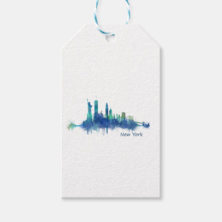 NYC New York Skyline v5 Gift Tags