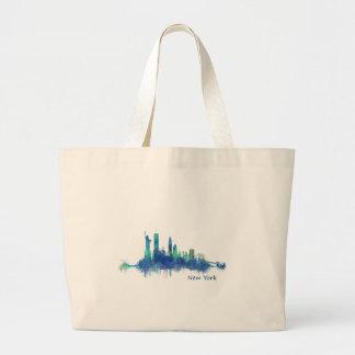 NYC New York Skyline v5 Large Tote Bag