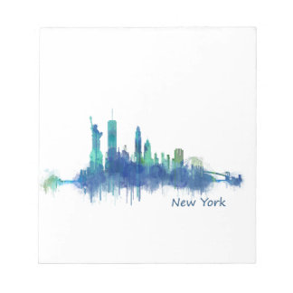 NYC New York Skyline v5 Notepads