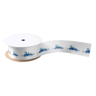 NYC New York Skyline v5 Satin Ribbon