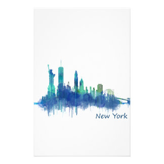 NYC New York Skyline v5 Stationery