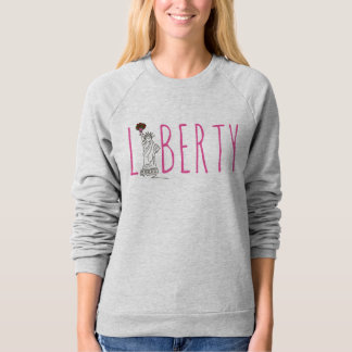 NYC New York Statue of Liberty Roses Sweatshirt
