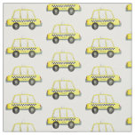 NYC New York Yellow Taxi Cabs Chequered Cab Fabric