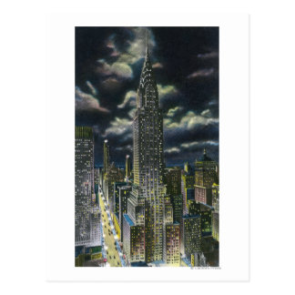 NYC, New YorkChrysler Building at Night # 1 Postcard